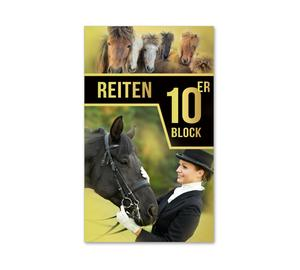 10er-Block Zehnerblock Reitsport