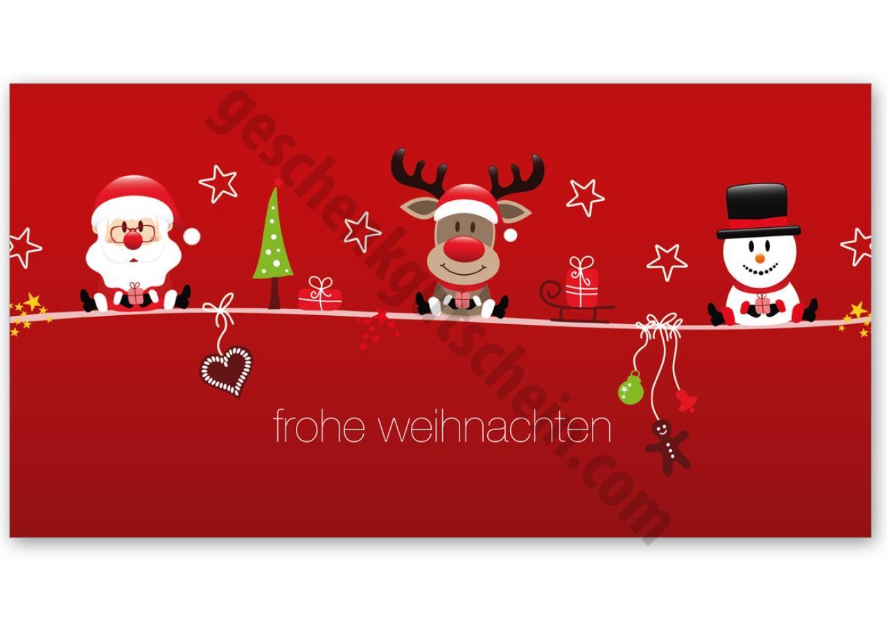 X232 Geschenkgutschein Multicolor Zum Falten Für Weihnachten