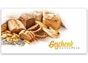 641cef9164 Gutschein Geschenkgutscheine Geschenk Gutscheine für Kunden Druckerei  blanko bestellen Karten hauer S219 Bäckerei Konditorei Bäckergutschein