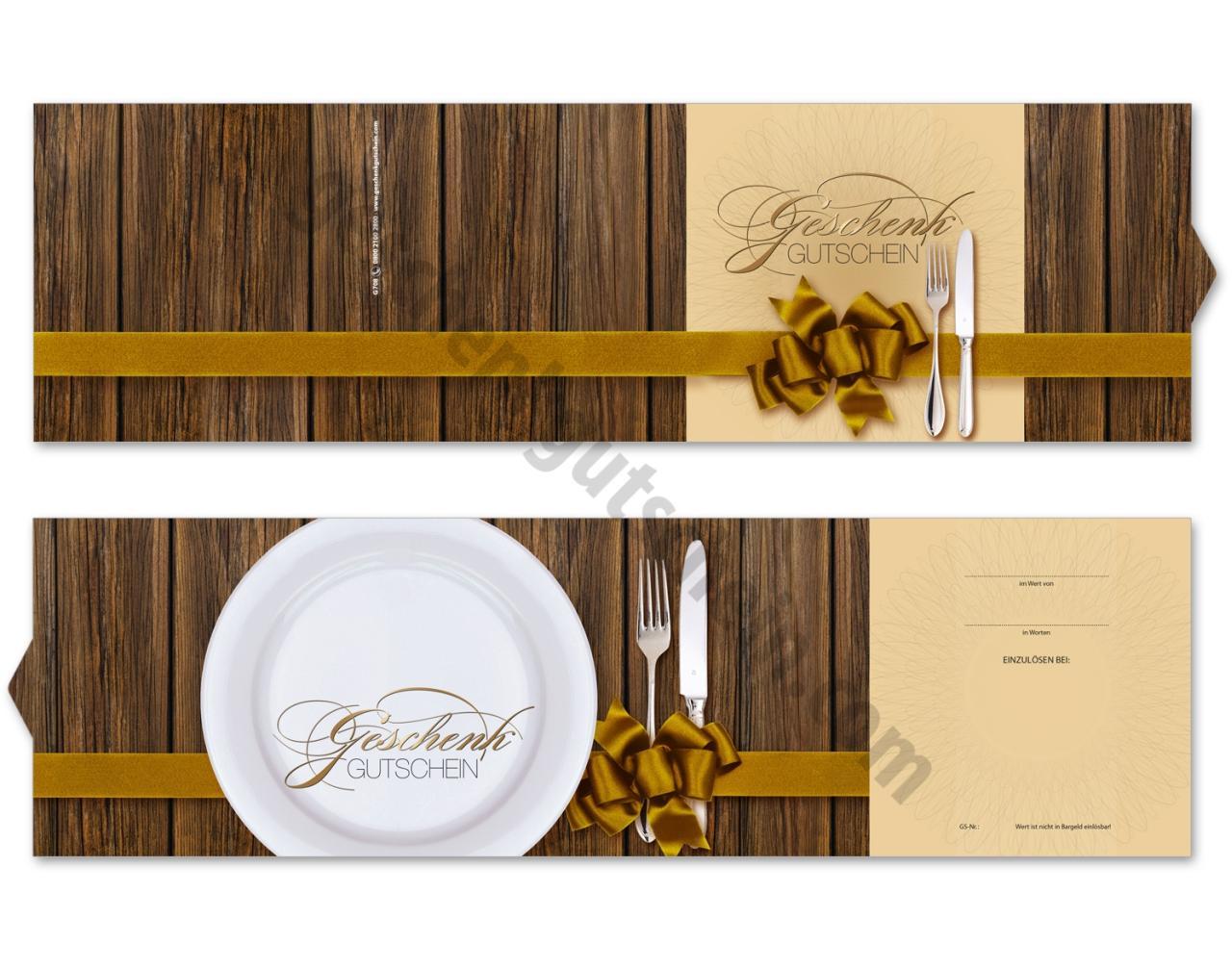 50 Stück Geschenkgutscheine für Gastronomie Gutscheine Restaurant