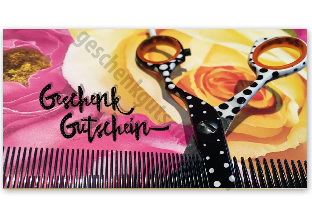 Weihnachtsgeschenke Für Kunden Friseur.K290 Geschenkgutschein Multicolor Zum Falten Friseurgeschäft