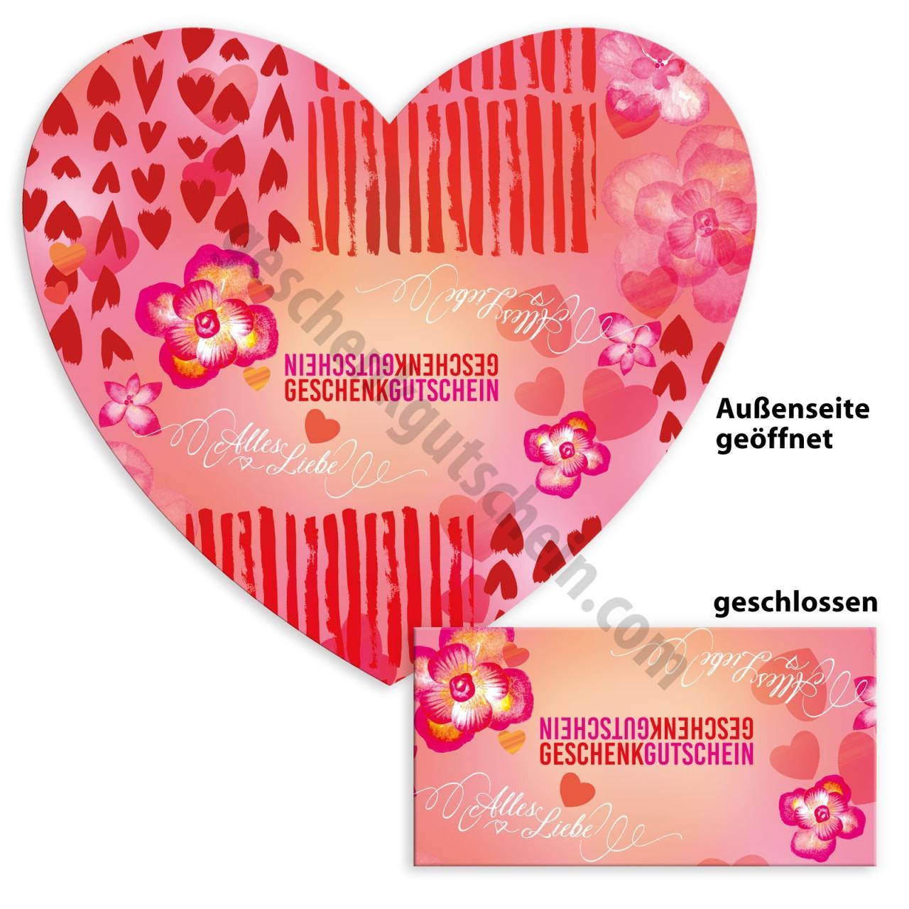 Fh102 Riesen Faltherz Gutschein Muttertag Valentinstag