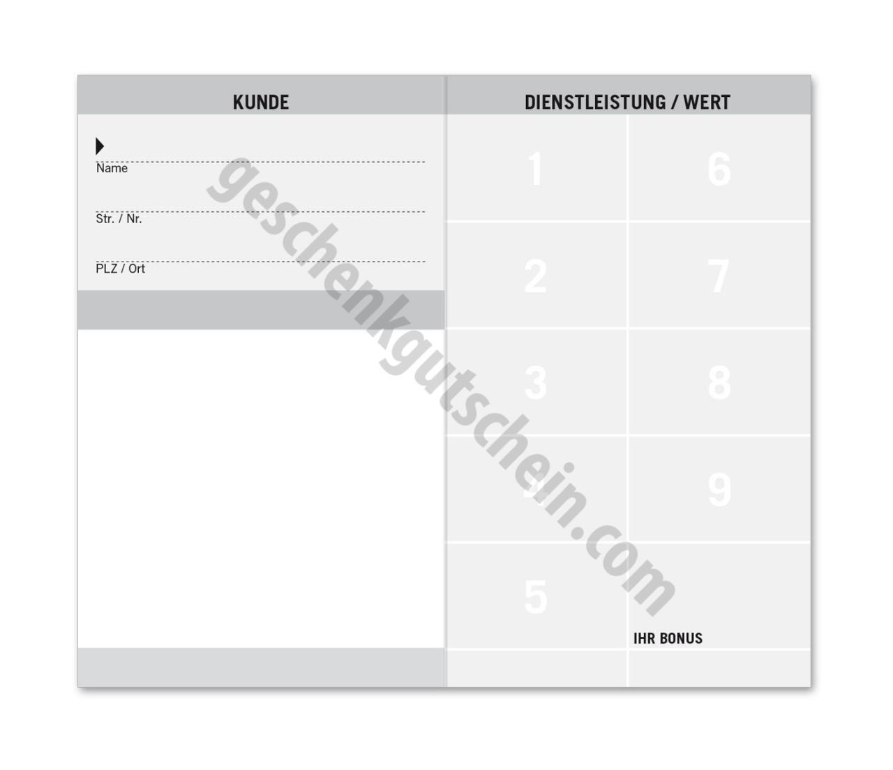 K591 Kundenkarte 9FD   Geschenkgutschein.com - Mit den schönsten ...