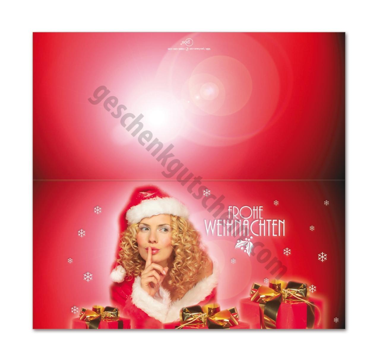 wb4 weihnachtskarte mit den sch nsten geschenkgutscheinen und. Black Bedroom Furniture Sets. Home Design Ideas